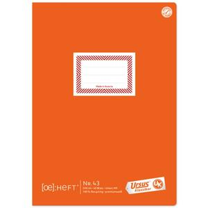 Ursus Ö-Heft Nr. 43 A4 40 Blatt 9mm liniert mit Korrekturrand