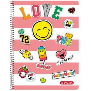 "herlitz Collegeblock SmileyWorld ""Girly"" A4 kariert"