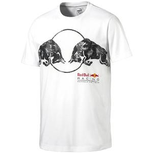PUMA Red Bull Racing Graphic Tee Light Puma White M