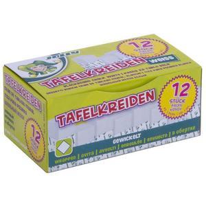 Jolly - Tafelkreide weiß, gewickelt 12er Schachtel