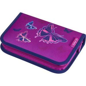herlitz Schüleretui 31-teilig (befüllt) Glitter Butterfly