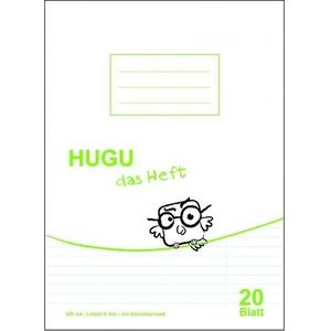 HUGU Schulheft A4 liniert 9mm mit Korrekturrand - 20 Blatt