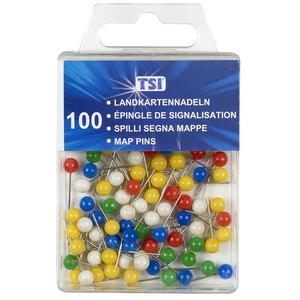 TSI Landkartennadeln 5mm bunt sortiert 100 Stück