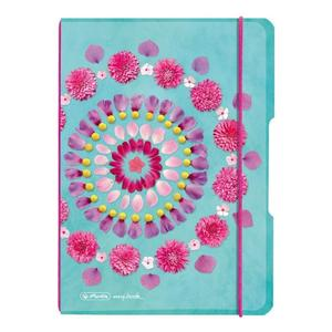 herlitz my.book flex Notizheft A5 40 Blatt kariert Flowers