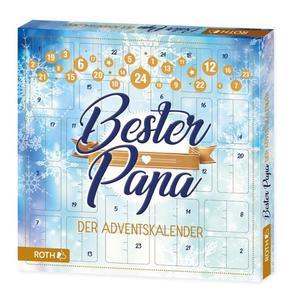 """ROTH Adventskalender """"Bester Papa"""", aus Pappe, bestückt"""
