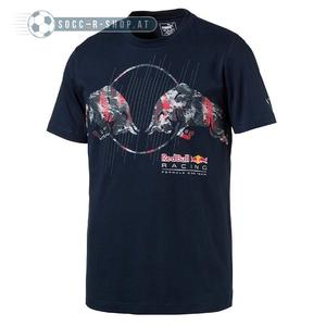 PUMA Red Bull Racing Graphic Tee Total Eclipse XL