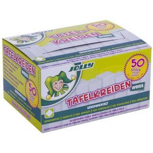 Jolly - Tafelkreide weiß, ungewickelt 50er Schachtel