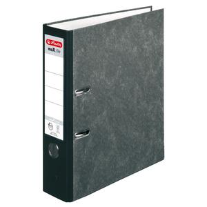 herlitz Ordner maX.file nature pocket A4 80mm Wolkenmarmor