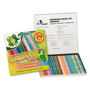 JOLLY Buntstifte Supersticks Pastell-Mix 24er