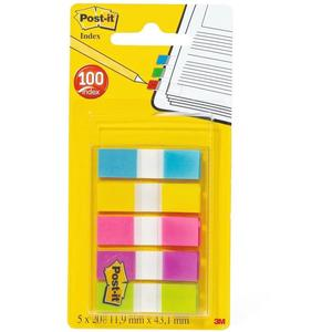 Post-it Haftmarker Index Mini, 11,9 x 43,2 mm, 5-farbig