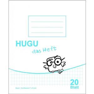 HUGU Schulheft Quart Hochkariert 7 x 9 mm 20 Blatt