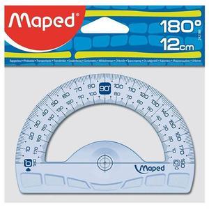 Maped flexibler Halbkreis Winkelmesser 180° 12 cm - blau