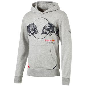 PUMA Red Bull Racing Graphic Hoodie Light Grey Heather S