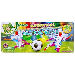 "JOLLY Buntstifte Supersticks XXL BOXX 48er ""SONDEREDITION FUSSBALL"""