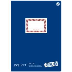 Ursus Ö-Heft Nr. 15 A4 20 Blatt 9mm liniert mit Korrekturrand