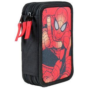 Spiderman Triple Federpenal 43-teilig