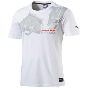 PUMA Red Bull Racing Graphic Tee White L