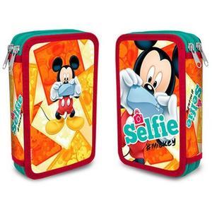 Mickey Mouse Doppeldecker Federpenal selfie 23-teilig