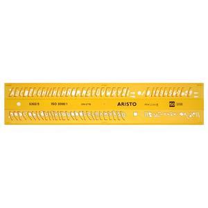 ARISTO Schriftschablone kursiv 5 mm (AR5302/5)