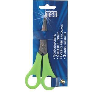 TSI Schülerschere 13 cm Spitz für Rechtshänder - grün