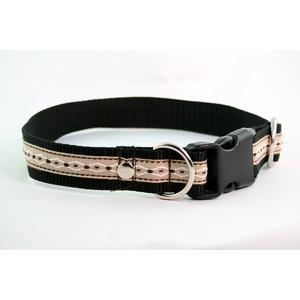 Hundehalsband Webband Muster Braun medium
