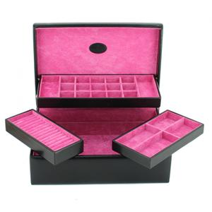 Charmbox Merino Moda Windrose schwarz pink Einsätze