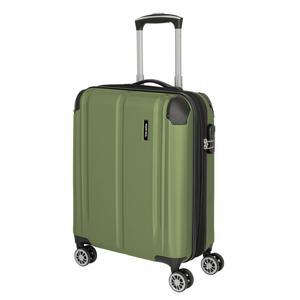 Handgepäck Koffer Travelite City S 55cm Hartschale 4-Rad grün