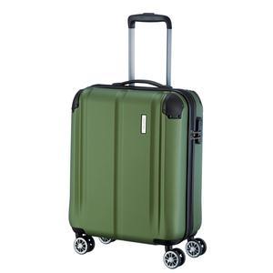 Travelite City Handgepäckkoffer Hartschale grün 4 Räder
