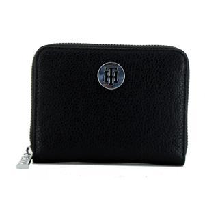 kompakte Zipbörse Tommy Hilfiger Core Med schwarz Damen