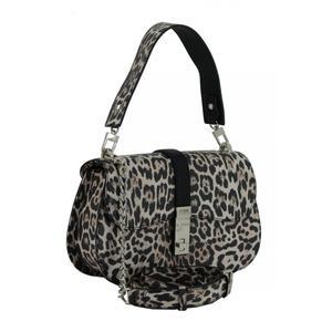 Überschlagtasche Guess Nierenform Leopard beige schwarz