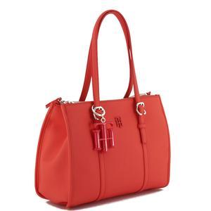 Handtasche Tommy Hilfiger poppy red Small Satchel Anhänger