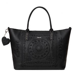 Shoppertasche Holbox bestickt Soft Bandana schwarz Desigual
