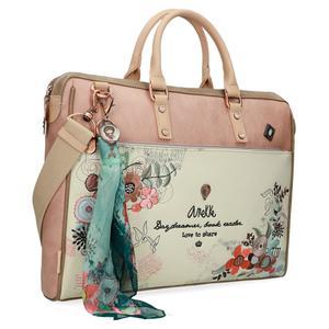 Anekke Laptoptasche Damen Jane Tablet Blumenstickerei Applikationen Umhängegurt