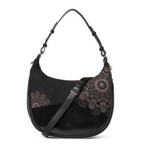 Hobo Bag Desigual Abby Siberia schwarz bestickt Mandala
