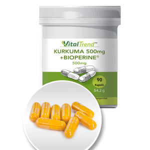 Kurkuma + Bioperine Kapseln