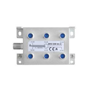 WISI 6-fach F-Verteiler 5-1300 MHz
