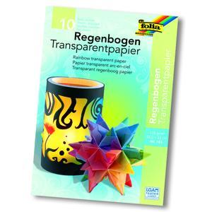 Folia, Regenbogen-Transparentpapier 115 g/m², 785, 22,5x32 cm, 10 Blatt, 785
