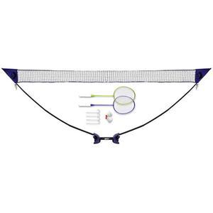 Best Sporting, Badminton-Set mit Netz, 145x465 cm, MEHRFARBIG, 8 Teile, 41179