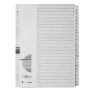 PAGNA Register A-Z A4 24-teilig Karton weiß (31007-08)