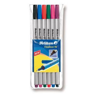 Pelikan Büro Pelikan Fineliner 96 farbig sortiert 0.4mm 6er Blister (940650)
