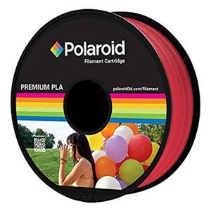 Polaroid Filament 1kg Premium PLA Filament transparent red (PL-8019-00)