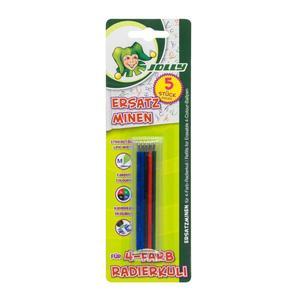 Jolly, Ersatzminen für 4-Farb-Radierkugelschreiber, M, 5 Stück
