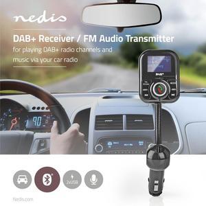 Nedis Kfz Audio FM Transmitter / Schwanenhals / freisprechend / 1.4 / LCD Screen / DAB+ Empfang / USB Ladung
