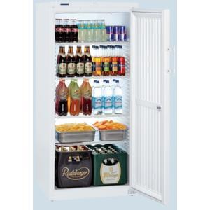 Flaschenkühlschrank mit Volltür 4 Ablageflächen 526L weiß