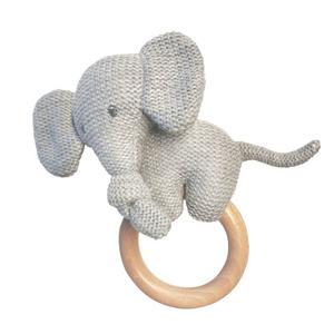 Nattou Beißring Elefant Strck mit Holz (40814540)