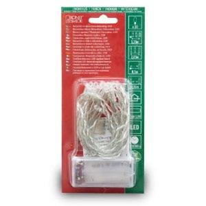 KonstSmide LED-Lichterkette 20-flg warm-weiß batteriebetrieben L335cm für Innen