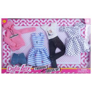 Toy Toy Toy ToyToyToy, Lucy Puppenmode Geschenkset mit 4 Outfits, 36,5x2,5x23cm, 8438