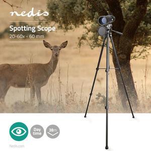 Nedis Spektiv / Vergrößerung: 20-60 / Objektivdurchmesser: 60 mm / Augenabstand: 13,0 / Sichtfeld: 38 m /Tripod 156cm