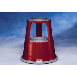 Rollhocker Stahlblech rot Höhe mit/ohne Belastung 430/440 mm Ø oben 295 mm Ø unten 435 mm