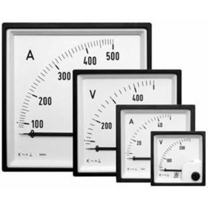 Iskra Voltmeter 0 - 500 V AC 72x72mm